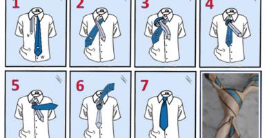 corbata a cuatro manos