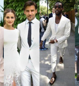 Combinación de Corbata para Traje Blanco