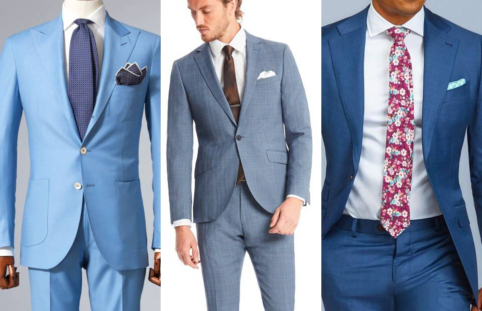 traje azul y corbata combinacion