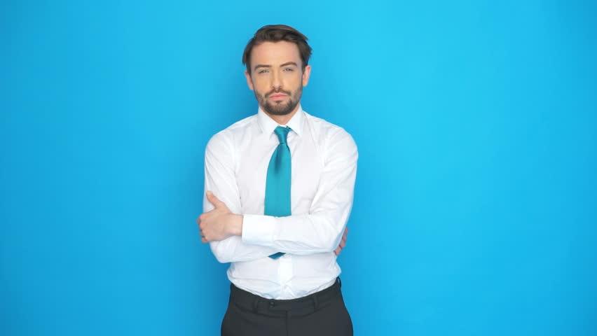 Corbata Azul Claro con Camisa Blanca