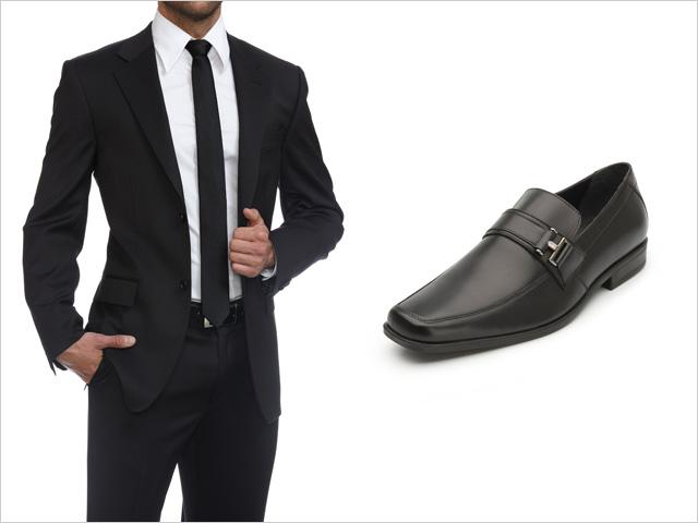 calzado para traje negro