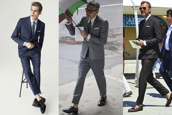 calzado para traje gris