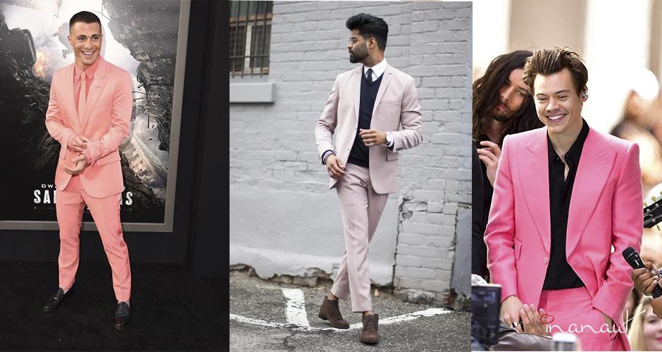 trajes rosa